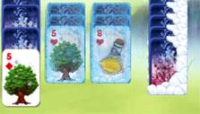 Avalon Legends Solitaire: Frozen and snow-covered cards