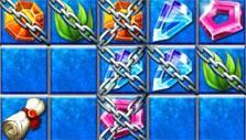 Double chained tiles in Jewel Legends: Atlantis