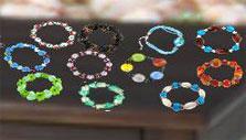 Colorful bracelets in Yard Sale Junkie