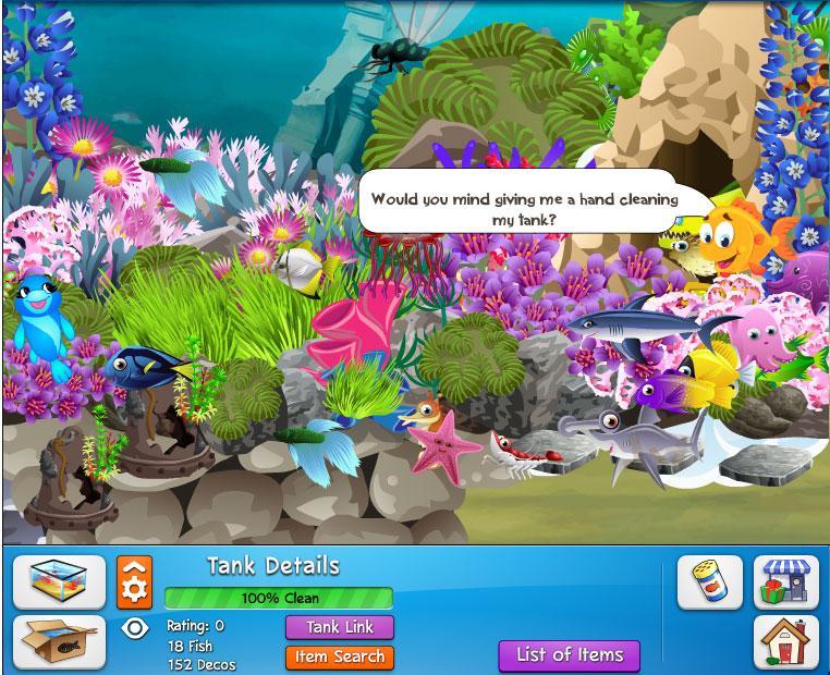Fish world wwgdb for Fish world game