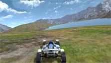 Beautiful terrain in Track Racing Online