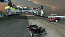 The finish line in Track Racing Online