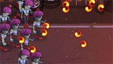 Zombies Ate My Pizza: Fire-shooting zombies