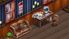 Rick's home/office in Detective Tales