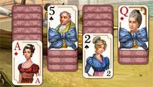 Ribbon cards in Regency Solitaire