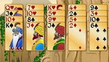 Club suit is in green in Forty Thieves Solitaire Gold