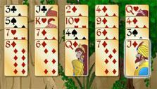 Forty Thieves Solitaire Gold: Diamond suit is in yellow