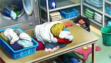 The Lost Detective: Laundry room