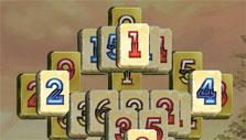 Numbers and alphabet tile set in Royal Mahjong