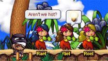 MapleStory: Hula dancers