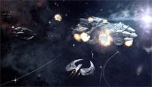 Cylon attack in Battlestar Galactica Online