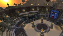 Gladiatorial arena in Minecraft