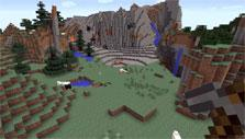 World of voxels in Minecraft