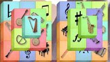 Musical tile set in Mahjong Towers Eternity