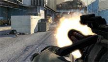 Metro Conflict: Minigun in action
