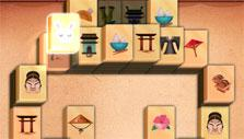 2D Mahjong Temple: Beautiful tiles