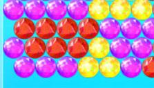 Brightly colored gems in Bubble Sea Mystery