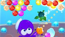 Using boosters in Bubble Sea Mystery