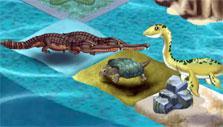 Sea dinosaurs in Dino Water World