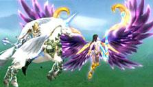 Unicorn and wings in Legend Knight
