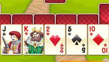 Cards in a row in Neverland Solitaire