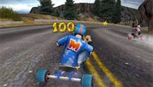 Going down the slope in Drift Trike