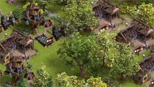 Wood cutters in the Settlers Online