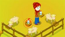 Giving medicine to your sick sheep in Sheep Farm