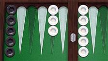 Starting a match in PlayGem Social Backgammon
