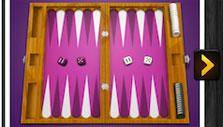 PlayGem Social Backgammon: Selecting a board