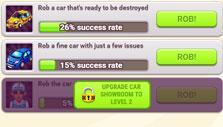 Rob a car in Mafia Battle