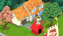 Snoopy flying his imaginary plane in Snoopy's Town Tale