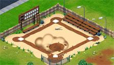 Baseball field in Snoopy's Town Tale