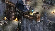 Entering city gates in Might & Magic Heroes Online