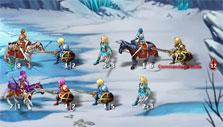 snowy battlefield in Kings and Legends