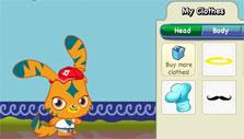 Moshi Monsters: playing dress up