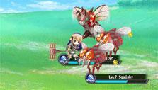 fighting 3 bugs in Flower Knight Girl
