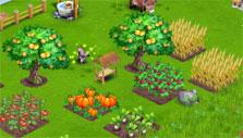 fruit trees and crops in Farm Days