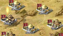 Region map in Rage of 3 Kingdoms
