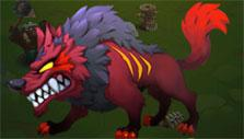Spirit wolf guardian in Clash of Legends