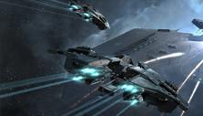 Attacking starships in EVE Online