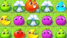Flowers and Fidget in Farm Heroes Super Saga