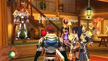 A tavern gathering in AdventureQuest 3D