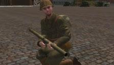 Soldier with an RPG in Battleground Europe