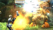 Boss fight in Phantasy Star Online 2