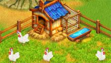 The hen house in Farm Tribe 3