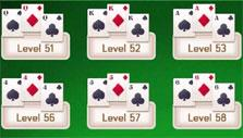 Tripeaks Solitaire: Level selection