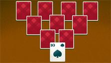 Tripeaks Solitaire: Inverted pyramid layout