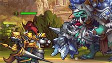 Warlord vs Troll in Seven Guardians