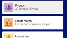 Challenging a friend in Words with Friends